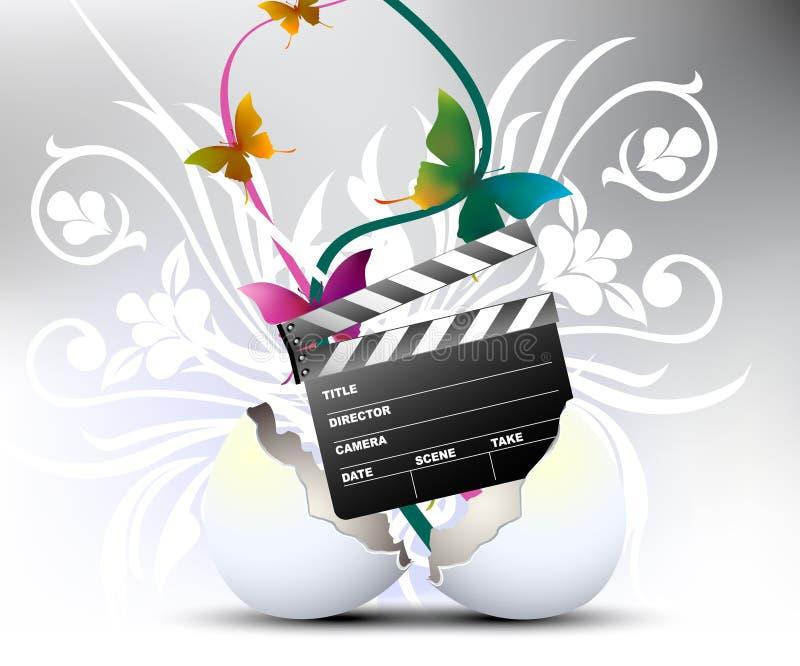 ύφος κινηματογράφων τέχνης διανυσματική απεικόνιση