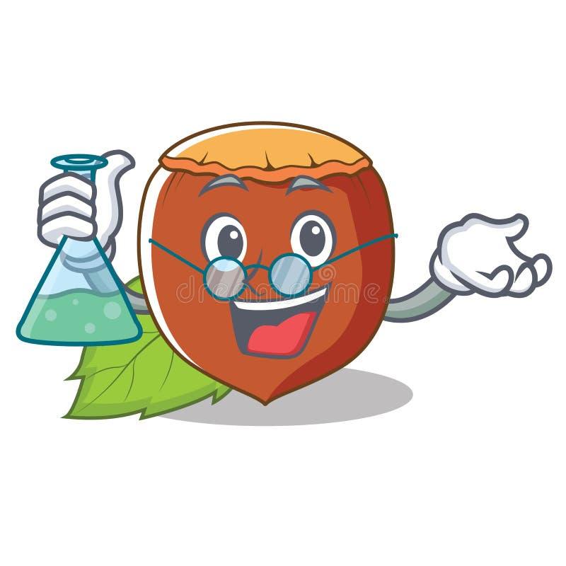 Ύφος κινούμενων σχεδίων χαρακτήρα φουντουκιών καθηγητή απεικόνιση αποθεμάτων