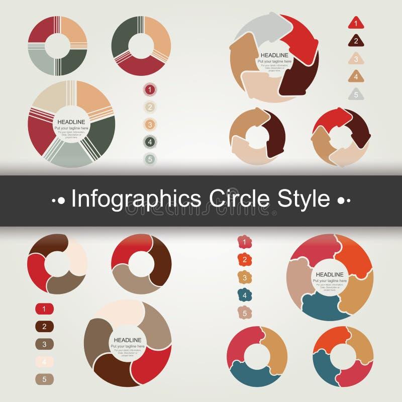 Ύφος κύκλων Infographics - διάνυσμα διανυσματική απεικόνιση