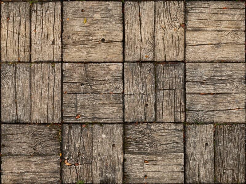 Ύφος παρκέ, ξύλινο Patio με εναλλασσόμενο Woodgrain στοκ εικόνα