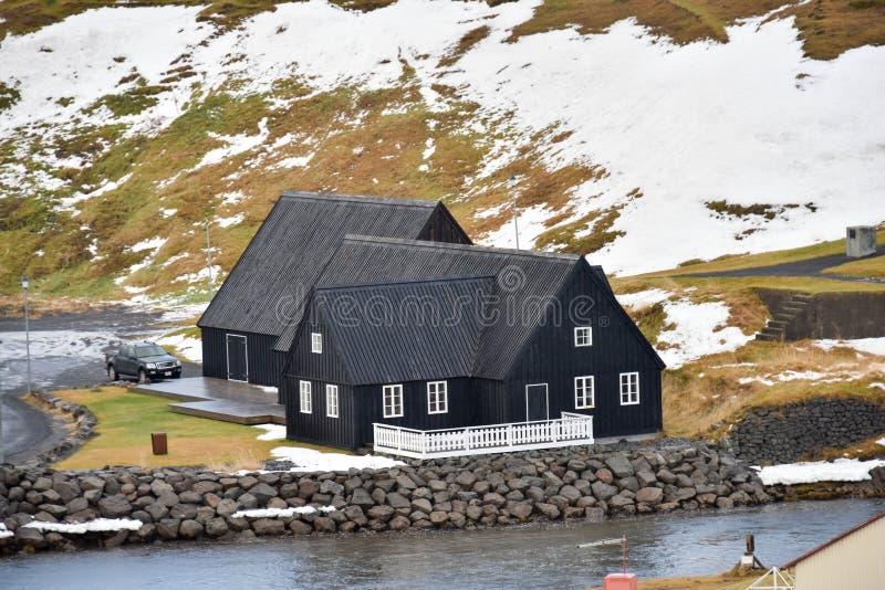 Ύφος σπιτιών στην Ισλανδία στοκ εικόνα