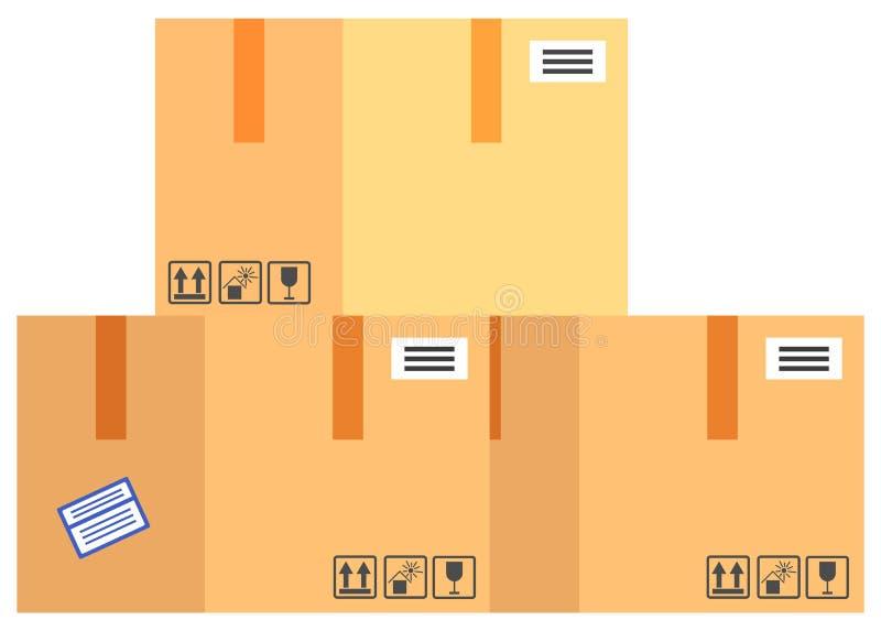 Ύφος σχεδίου εικονιδίων προϊόντων συσκευασίας ελεύθερη απεικόνιση δικαιώματος