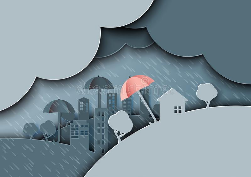 Ύφος τέχνης εγγράφου υποβάθρου μουσώνα περιόδου βροχών ελεύθερη απεικόνιση δικαιώματος