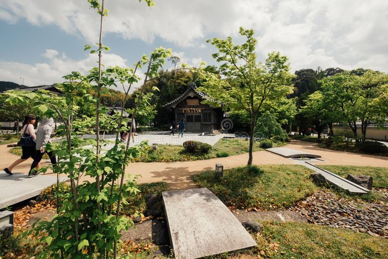 Ύφος ταινιών, ιαπωνικό σπίτι ύφους του Φουκουόκα στοκ εικόνες με δικαίωμα ελεύθερης χρήσης