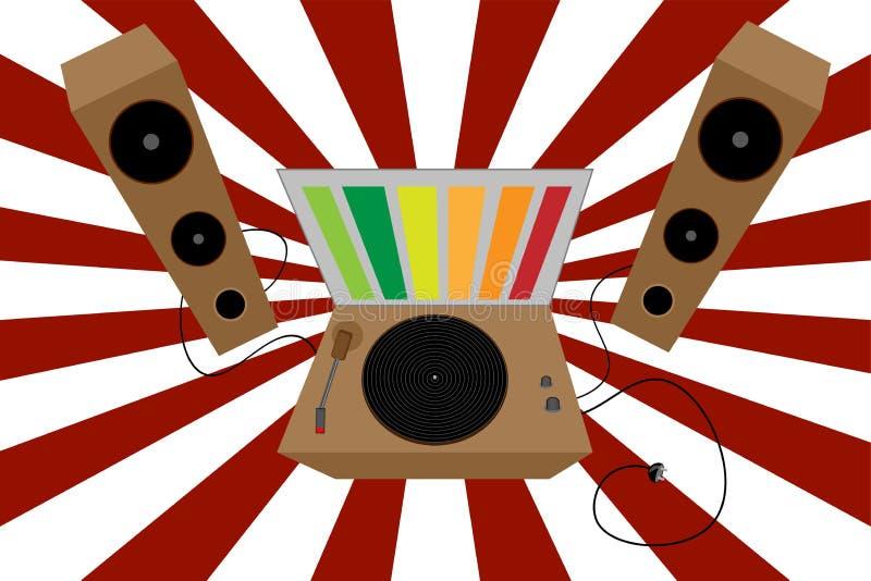 Ύφος του διανύσματος του DJ απεικόνιση αποθεμάτων