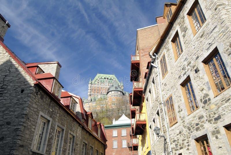 ύφος του Κεμπέκ πόλεων στοκ φωτογραφία