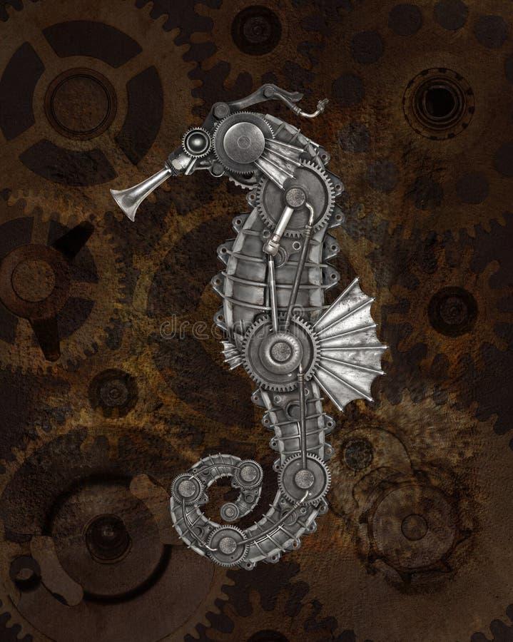 Ύφος Steampunk seahorse στοκ φωτογραφία