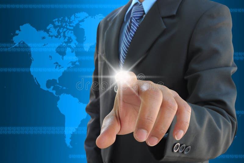 Download ώθηση χεριών επιχειρηματιώ& Στοκ Εικόνα - εικόνα από πληκτρολόγιο, κουμπί: 22778191