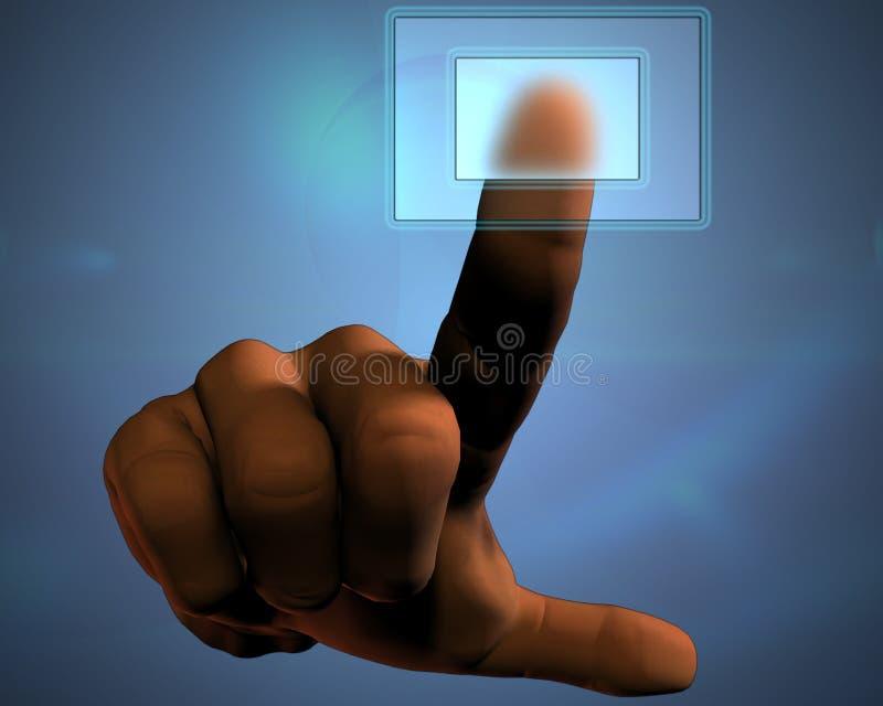 ώθηση χεριών κουμπιών διαφ&al ελεύθερη απεικόνιση δικαιώματος