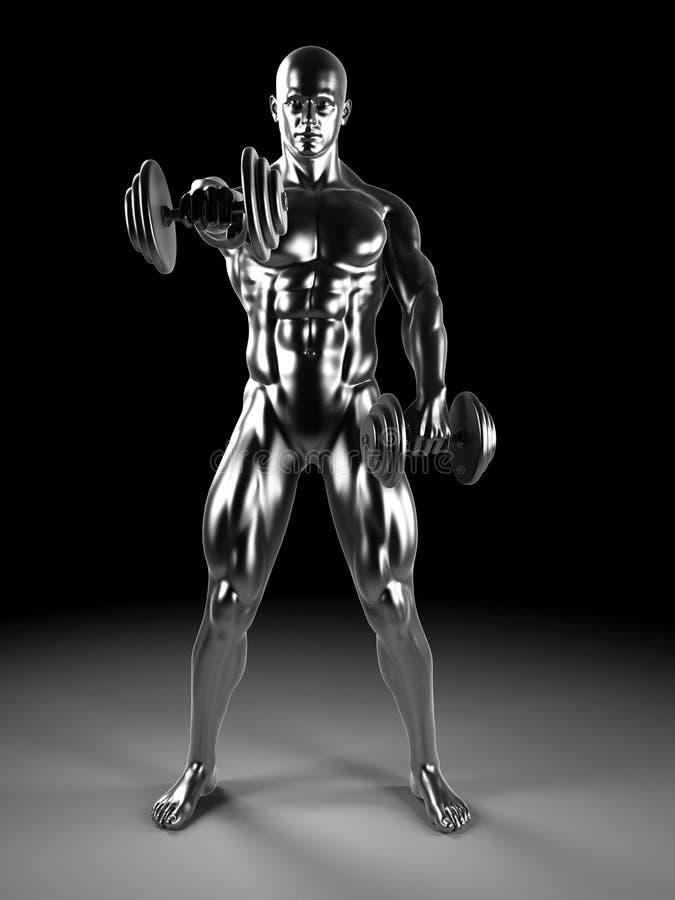 Ώμος μετάλλων workout ελεύθερη απεικόνιση δικαιώματος