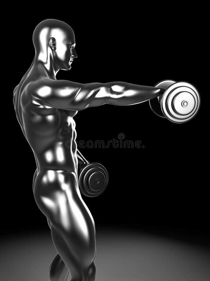 Ώμος μετάλλων workout διανυσματική απεικόνιση