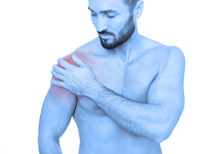ώμος πόνου στοκ φωτογραφία με δικαίωμα ελεύθερης χρήσης