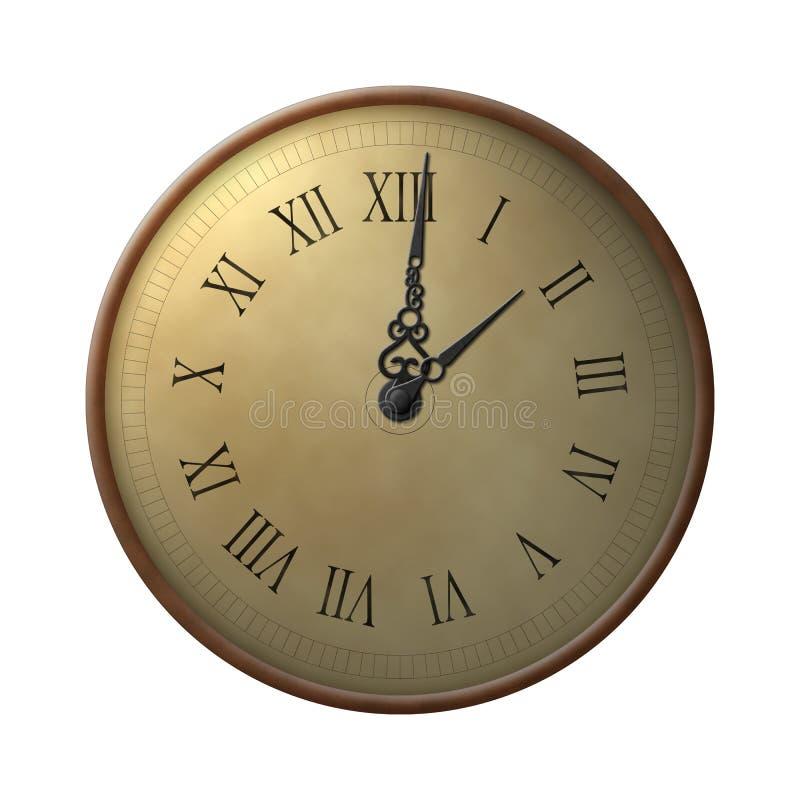 ώρες δέκα τρία ρολογιών ελεύθερη απεικόνιση δικαιώματος