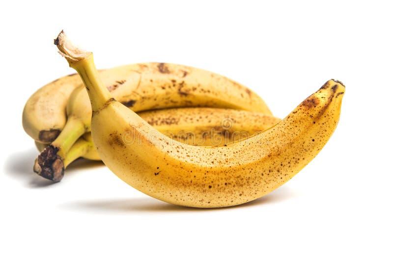 Ώριμες μπανάνες τα σκοτεινά σημεία που απομονώνονται με στοκ εικόνες με δικαίωμα ελεύθερης χρήσης
