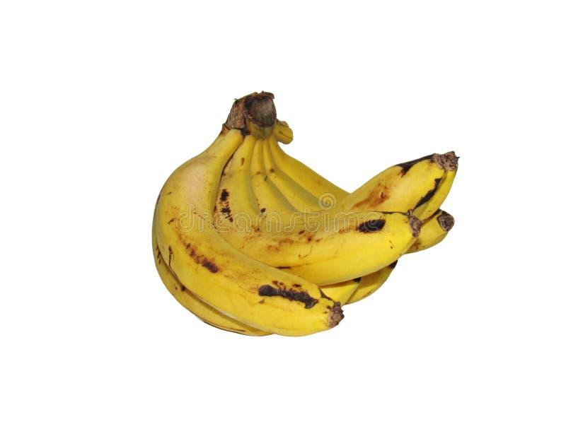 Ώριμη κίτρινη δέσμη μπανανών στο άσπρο backgroud στοκ φωτογραφίες με δικαίωμα ελεύθερης χρήσης