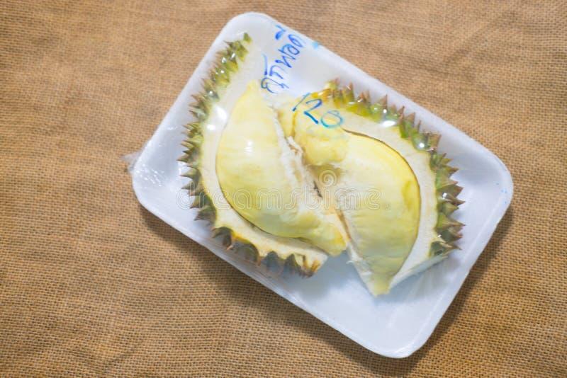 Ώριμη κίτρινη σάρκα Durian στοκ εικόνα με δικαίωμα ελεύθερης χρήσης