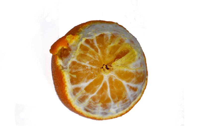 Ώριμη κινηματογράφηση σε πρώτο πλάνο μανταρινιών σε ένα άσπρο Tangerine υποβάθρου πορτοκάλι στοκ εικόνες με δικαίωμα ελεύθερης χρήσης