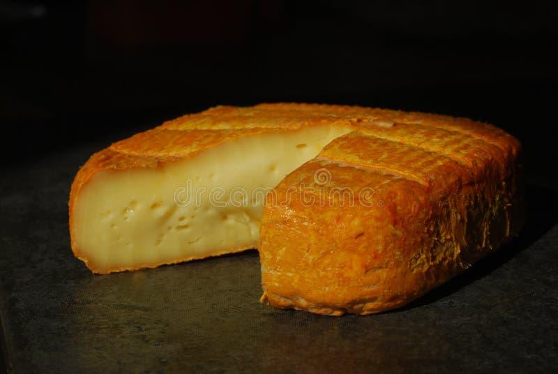 ώριμος μαλακός maroilles τυριών γ&alph στοκ εικόνα