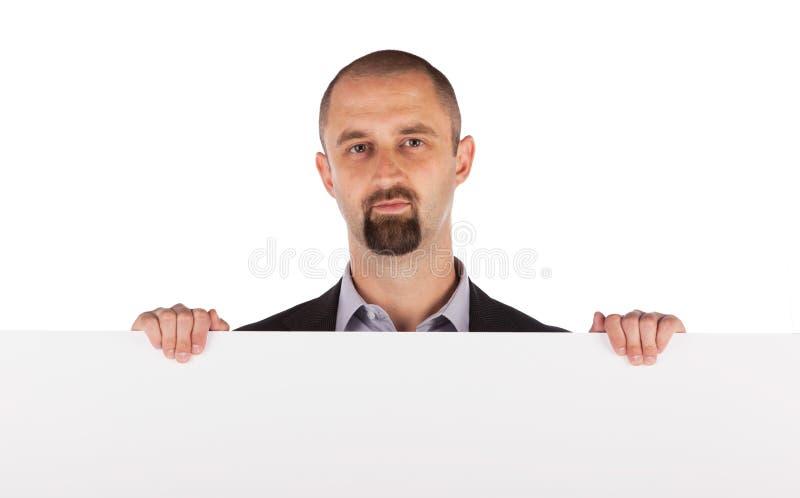 Ώριμος πίνακας διαφημίσεων εκμετάλλευσης επιχειρηματιών στοκ εικόνα με δικαίωμα ελεύθερης χρήσης