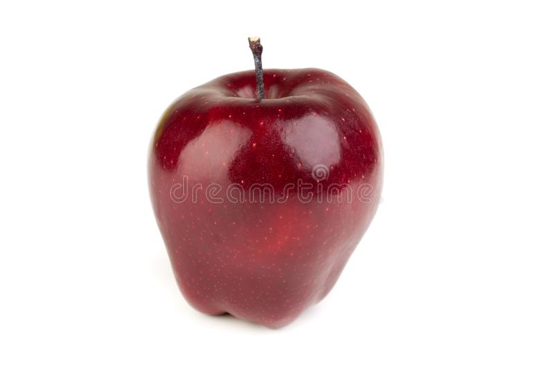 ώριμο juicy κόκκινο μήλο σε ένα άσπρο υπόβαθρο στοκ φωτογραφίες