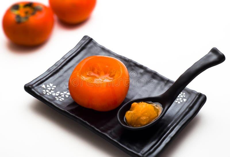 ώριμο persimmon στοκ φωτογραφίες