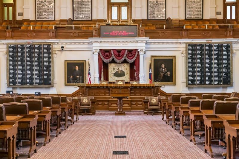 Ώστιν, TX/USA - το Φεβρουάριο του 2016 circa: Αίθουσα Βουλών των Αντιπροσώπων στο κράτος Capitol του Τέξας στο Ώστιν, TX στοκ εικόνες
