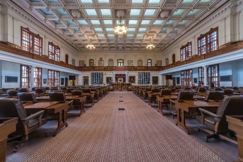 Ώστιν, TX/USA - το Φεβρουάριο του 2016 circa: Αίθουσα Βουλών των Αντιπροσώπων στο κράτος Capitol του Τέξας στο Ώστιν, TX στοκ φωτογραφία