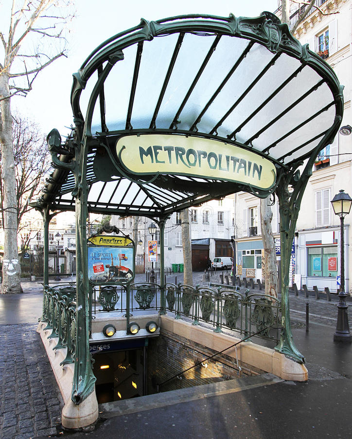Аббатисы станции - установите аббатис des - Париж 18e стоковая фотография
