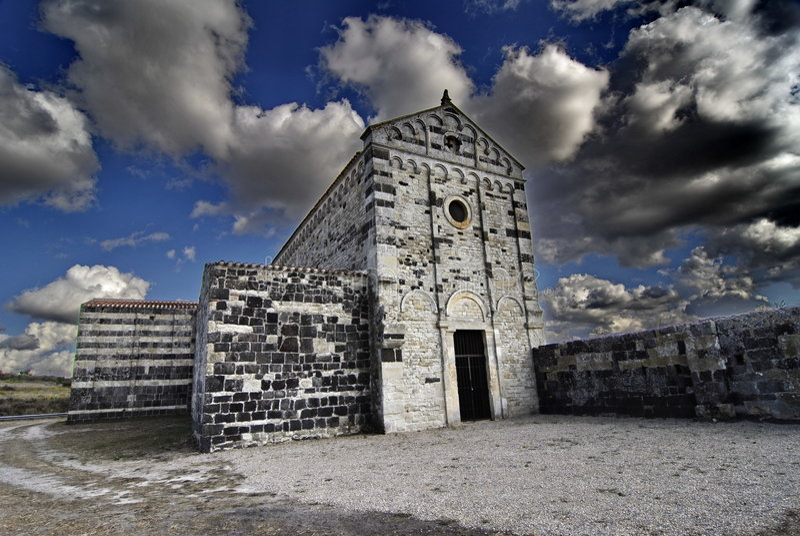 аббатство Сардиния стоковые фото