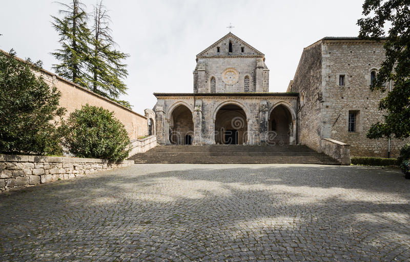 Аббатство Casamari в Ciociaria, Фрозиноне, Италии стоковые фото