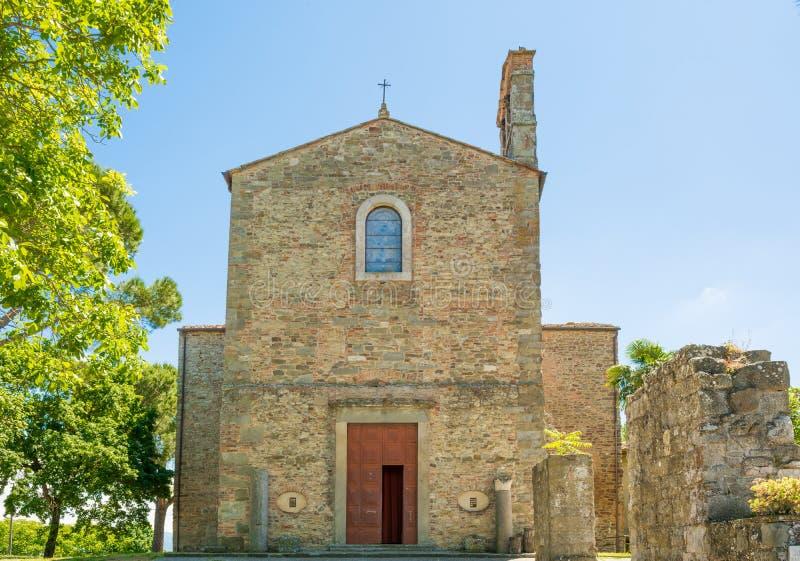 Аббатство Farneta в 1014 в Cortona, Тоскане стоковое фото rf