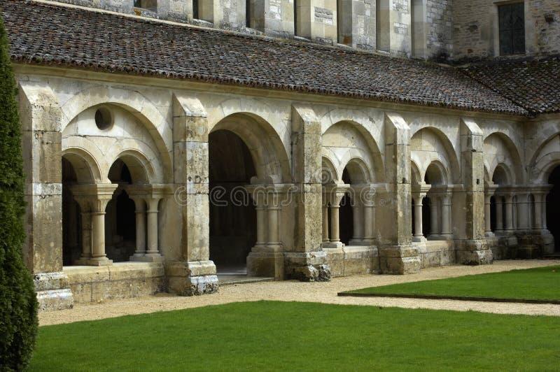аббатство fontenay стоковое фото rf