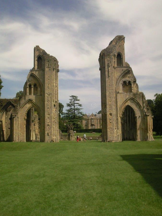 аббатство glastonbury стоковое фото
