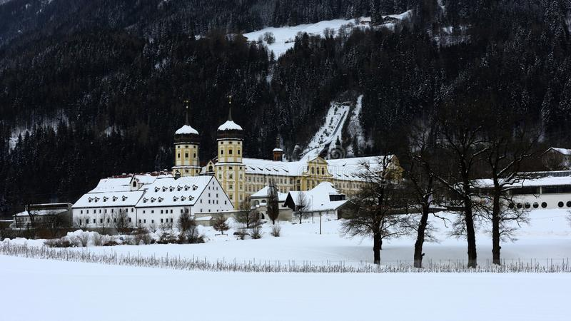 Аббатство Stams, Tirol, Австрия стоковое изображение rf