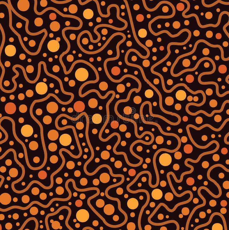 Аборигенная предпосылка вектора искусства точки иллюстрация вектора