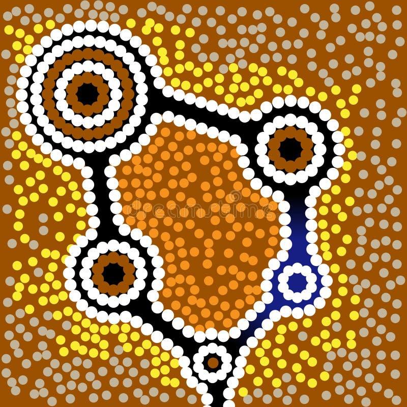 Аборигенная предпосылка вектора искусства иллюстрация штока