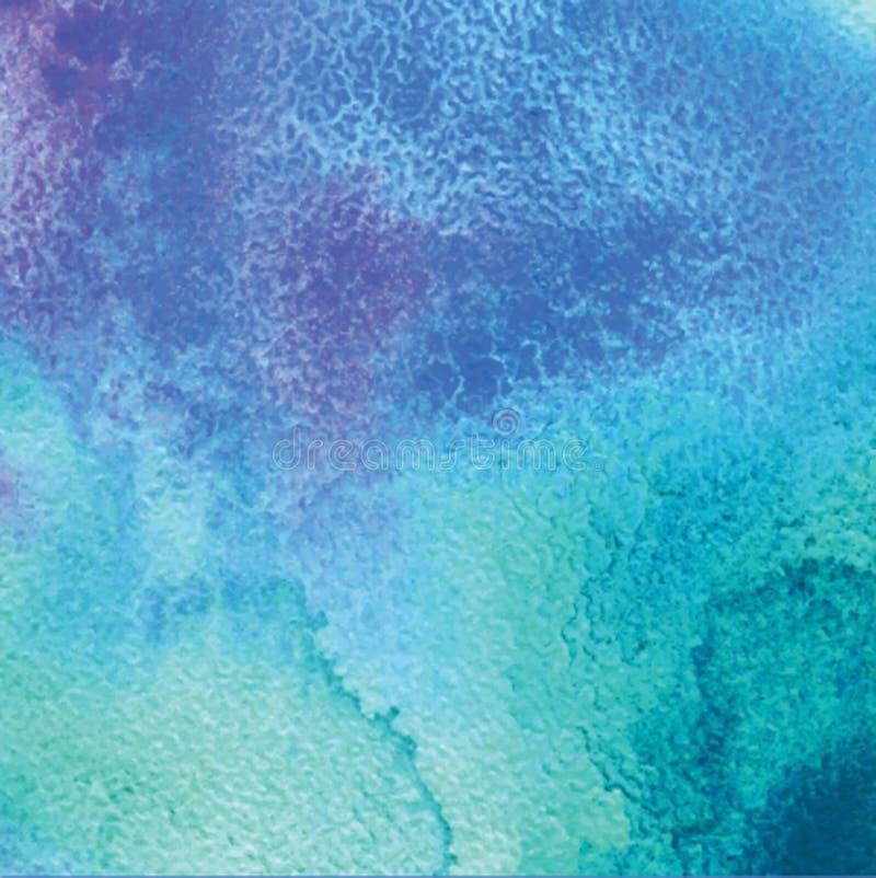 абстрактная акварель предпосылки Вручите вычерченный фон акварели, текстуру, акварели пятна на влажной бумаге иллюстрация вектора