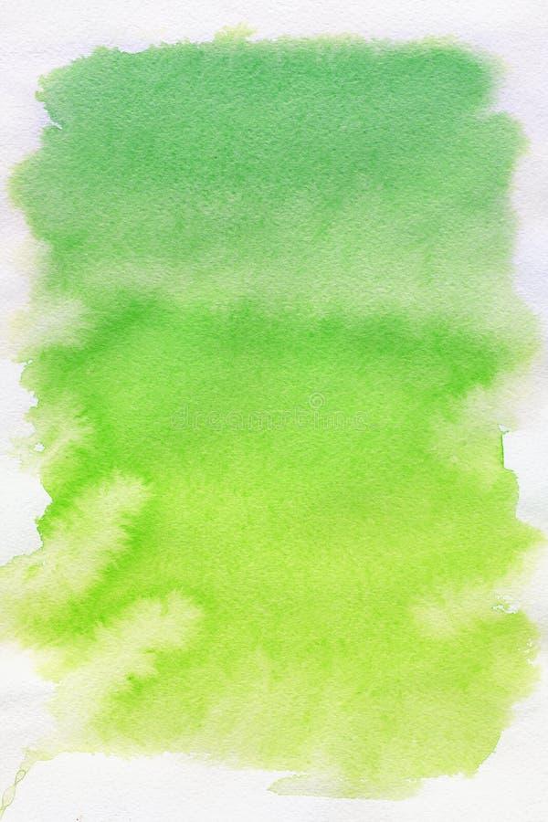 абстрактная акварель пятна зеленого цвета предпосылки иллюстрация вектора