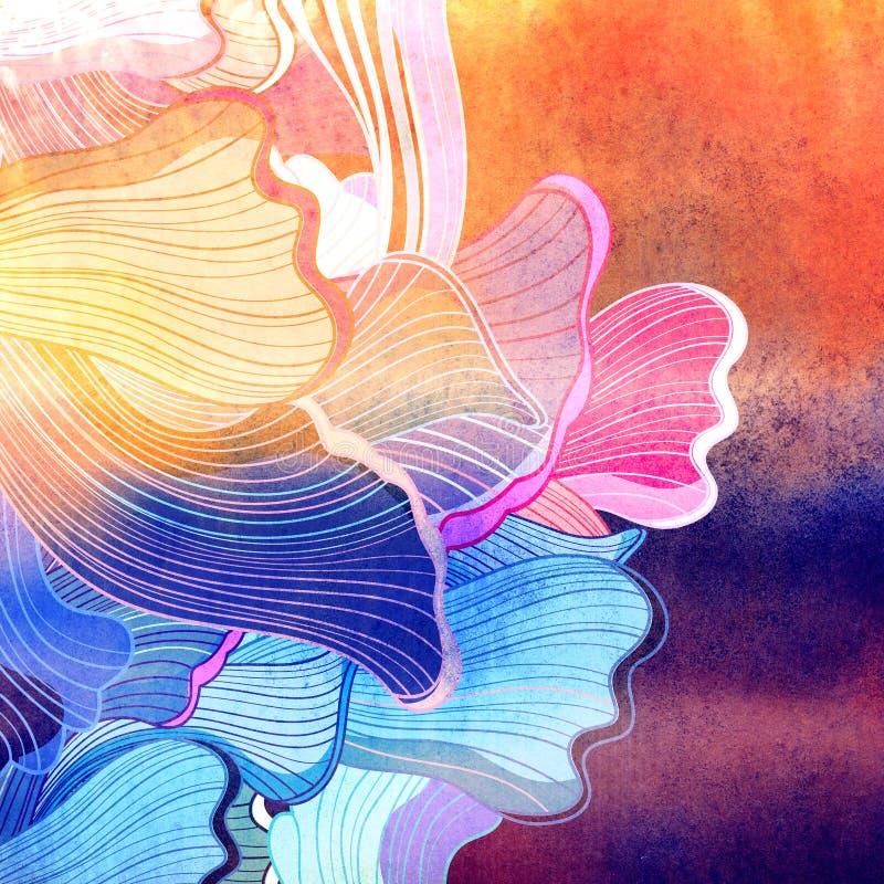 абстрактная акварель предпосылки иллюстрация штока