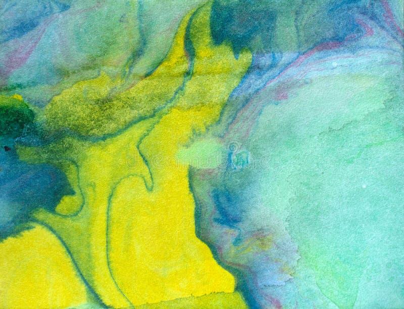 Абстрактная акварель пятнает предпосылку grunge иллюстрация штока