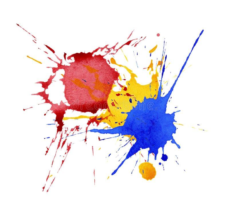 Абстрактная акварель, чернила брызгает бесплатная иллюстрация