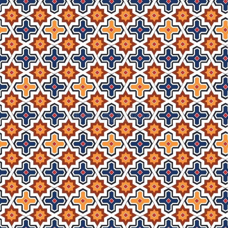 Абстрактная арабская исламская безшовная геометрическая предпосылка картины также вектор иллюстрации притяжки corel бесплатная иллюстрация
