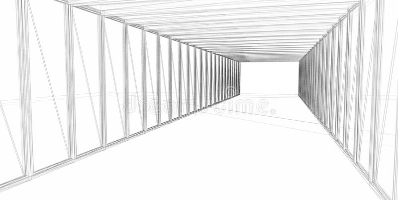 абстрактная архитектурноакустическая конструкция 3d стоковые фото