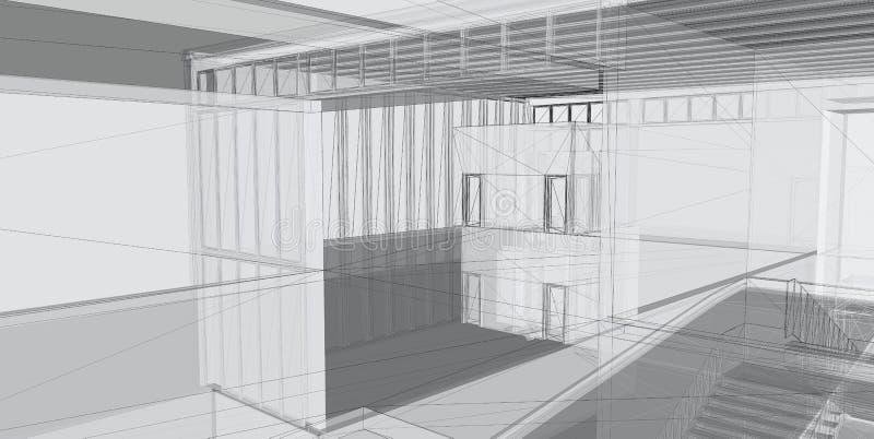 абстрактная архитектурноакустическая конструкция 3d стоковые изображения