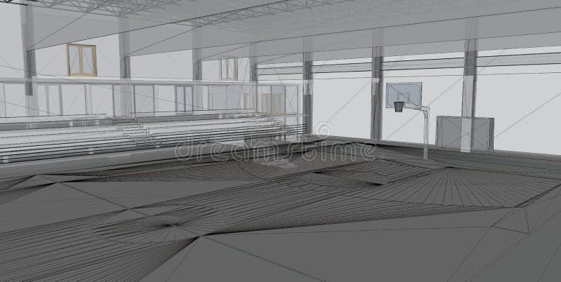 абстрактная архитектурноакустическая конструкция 3d стоковые изображения rf