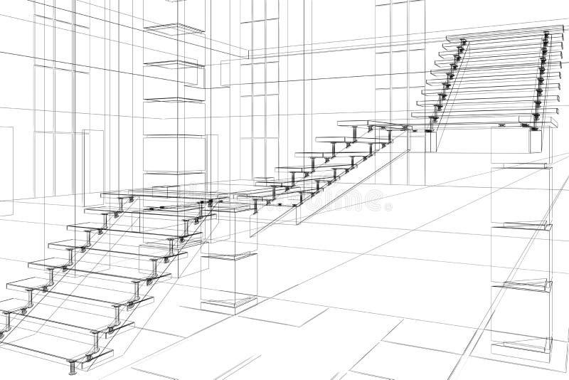 абстрактная архитектурноакустическая конструкция иллюстрация вектора