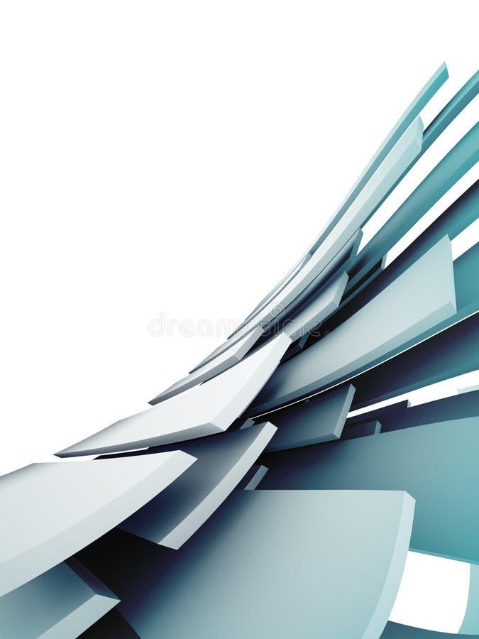 абстрактная архитектурноакустическая предпосылка 3d иллюстрация вектора