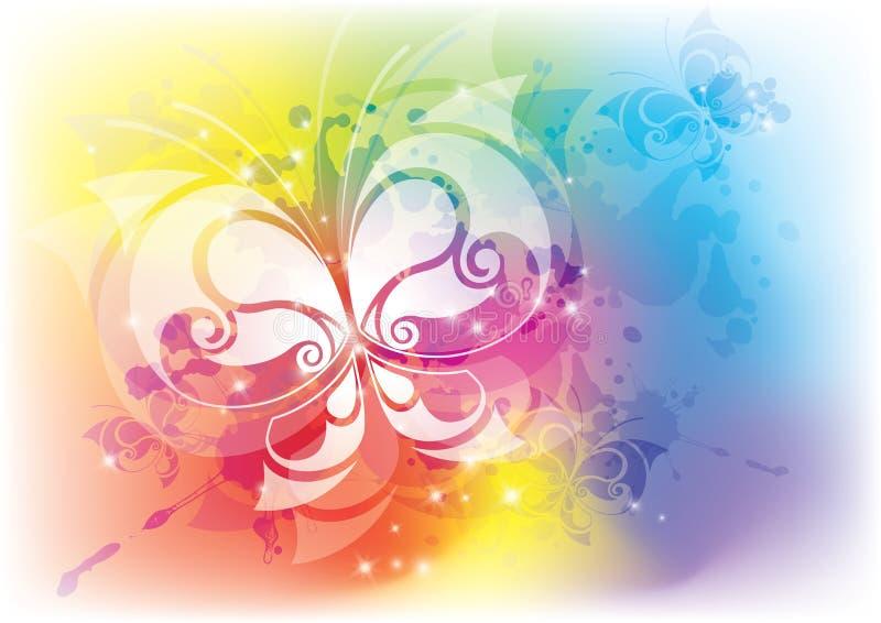 абстрактная бабочка иллюстрация вектора