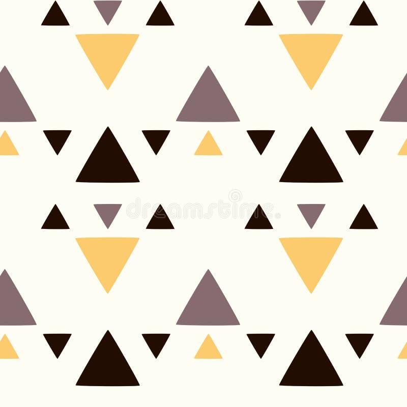 Абстрактная безшовная иллюстрация предпосылки картины с треугольниками бесплатная иллюстрация