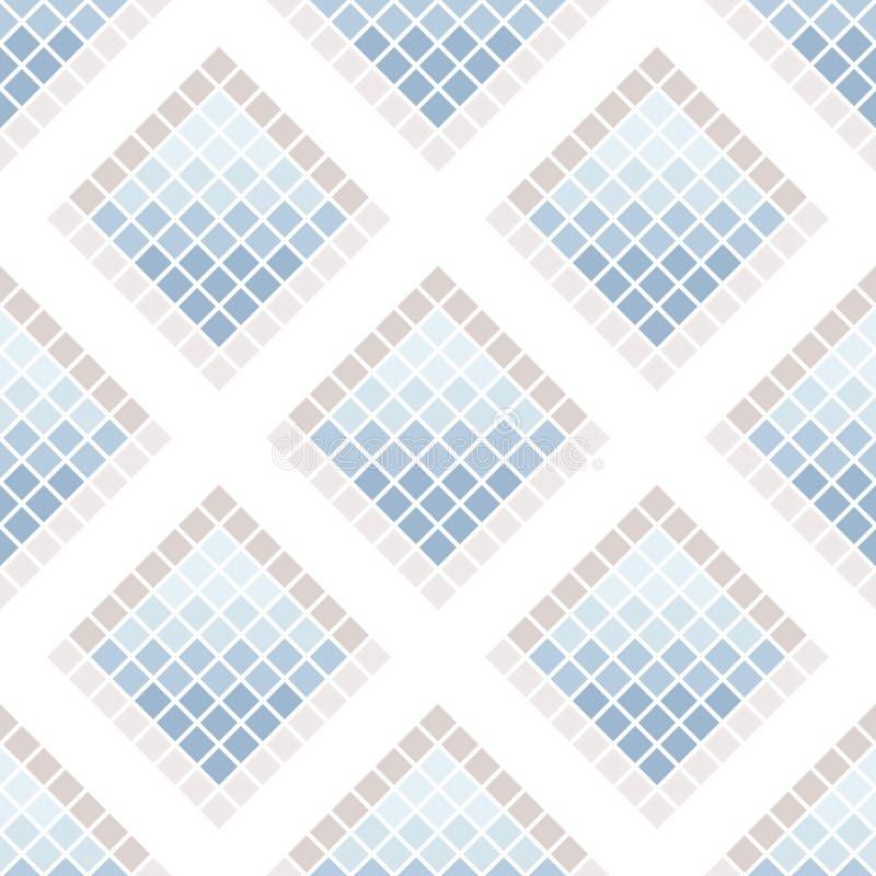 Абстрактная безшовная картина квадратов керамические ceranic плитки текстуры бесплатная иллюстрация